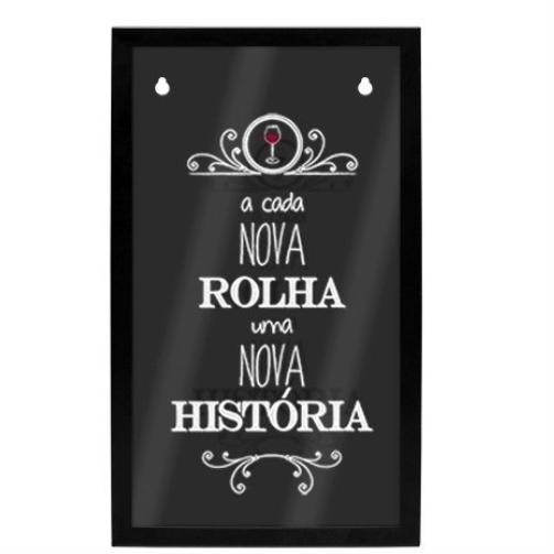 SUPORTE DE AÇO PAREDE ROLHAS HISTÓRIA