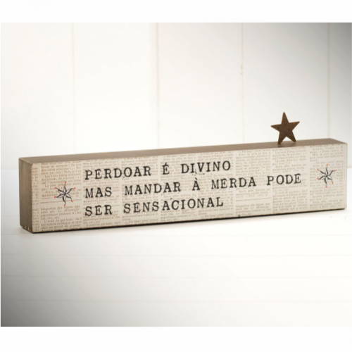BLOCO PALAVRAS 35x10 PERDOAR É DIVINO